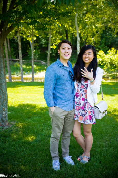 DIana and Phil surprise proposal