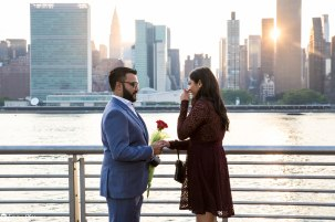 Hans and Nidhi Surprise Proposal - W-11