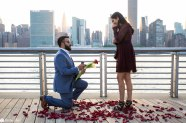 Hans and Nidhi Surprise Proposal - W-13