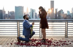 Hans and Nidhi Surprise Proposal - W-15
